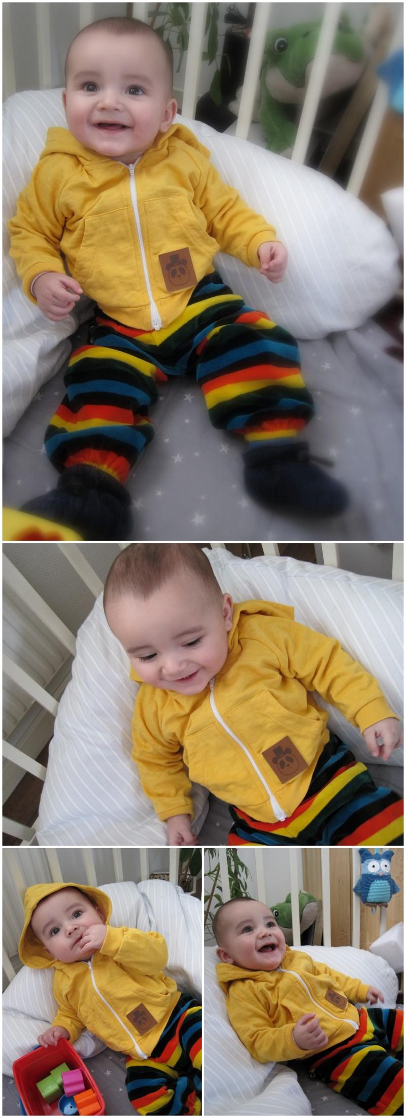 Mini rodini yellow hoodie Danefæ lucky rainbow