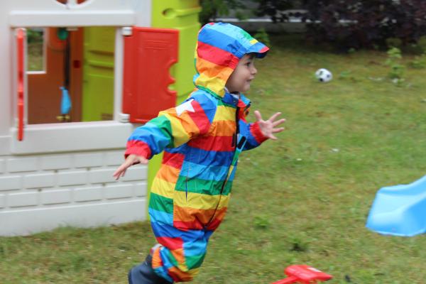MOLO rainbow rainsuit